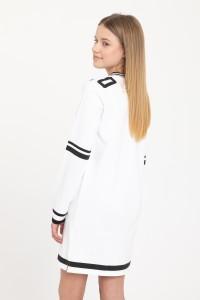 Biała sukienka z długim rękawem TEAM PLAYER