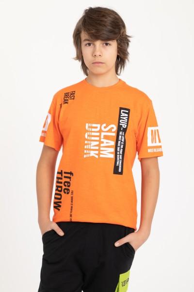 Pomarańczowy T-Shirt dla chłopaka