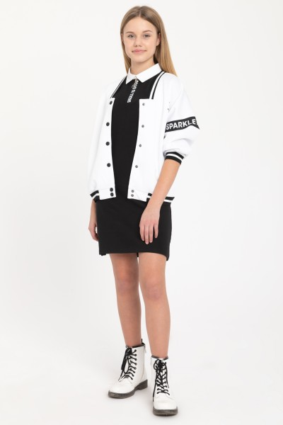 Biała bomberka dla dziewczyny