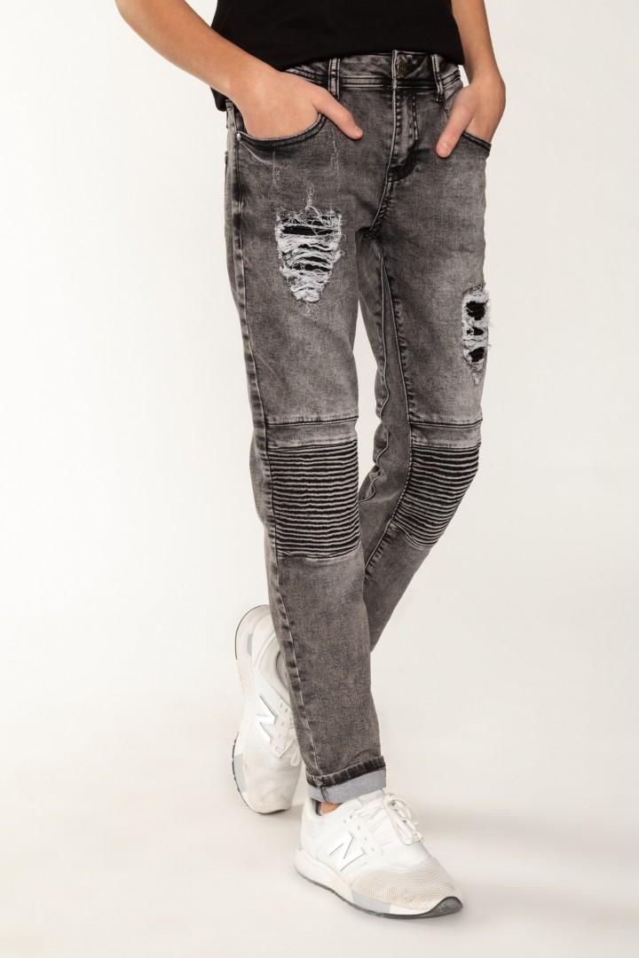 Jeansy z ozdobnymi przetarciami, chłopięce | Sklep
