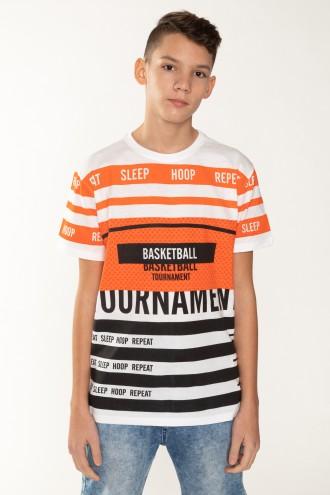 T-Shirt w ozdobne nadruki dla chłopaka