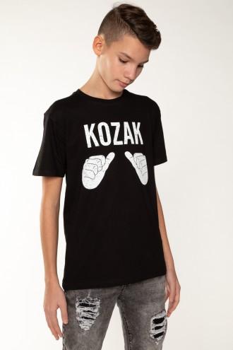 Czarny T-Shirt KOZAK dla chłopaka