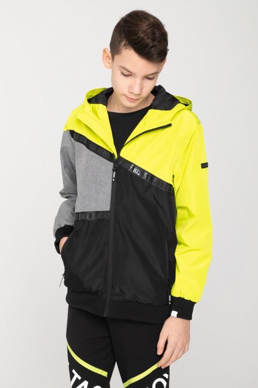 Przejściowa kurtka z kapturem dla chłopaka
