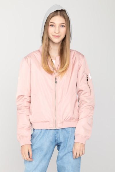 Różowa kurtka przejściowa dla dziewczyny