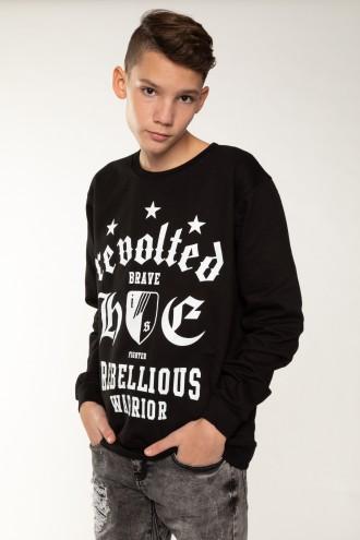 Czarna bluza z nadrukami dla chłopaka