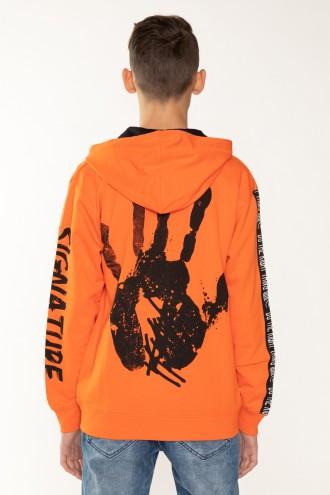 Pomarańczowa bluza HAND