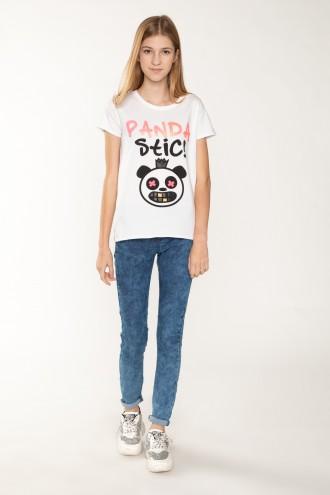 Niebieskie jeansy dla dziewczyny