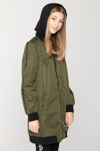 Przedłużana sportowa kurtka dla dziewczyny