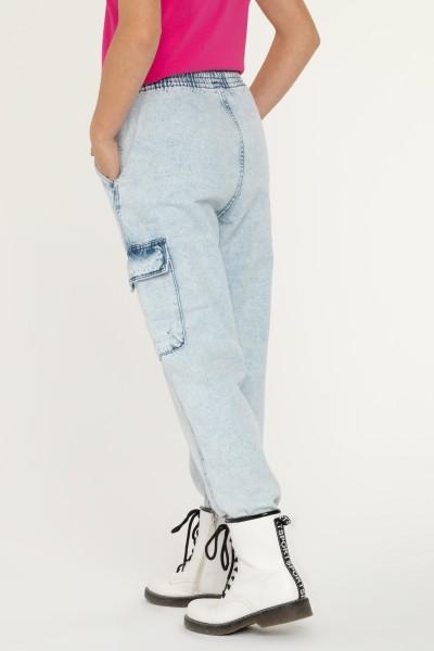Jeansowe joggery dla dziewczyny