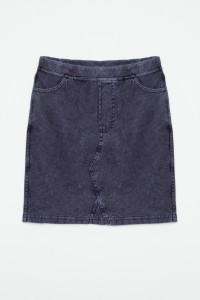 Jeansowa spódniczka z kieszeniami