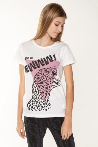Biały T-Shirt EWWW dla dziewczyny