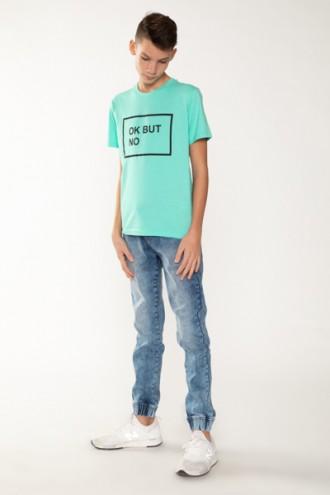 Niebieskie joggery jeansowe dla chłopaka