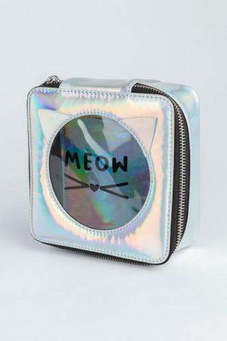 Holograficzna kosmetyczka MEOW