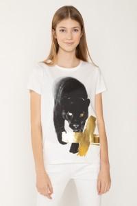 Biały T-shirt PANTERA