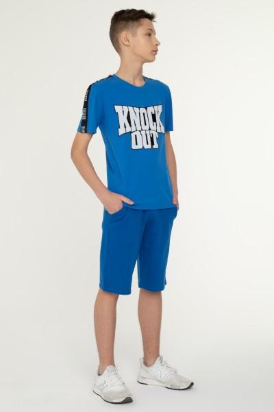 Niebieski T-shirt dla chłopaka KNOCK OUT