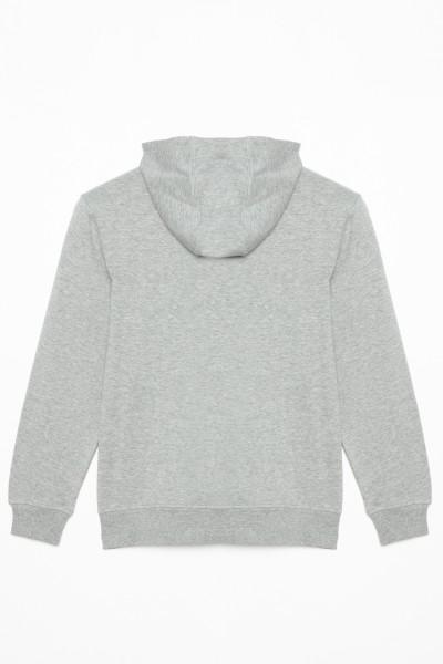 Szara bluza rozpinana z kapturem