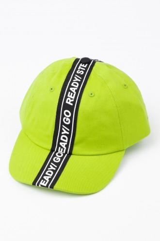 Limonkowa czapka z daszkiem READY