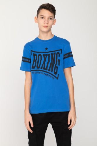 Niebieski T-shirt dla chłopaka BOXING