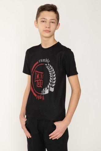 Czarny T-shirt dla chłopaka KNOCK OUT