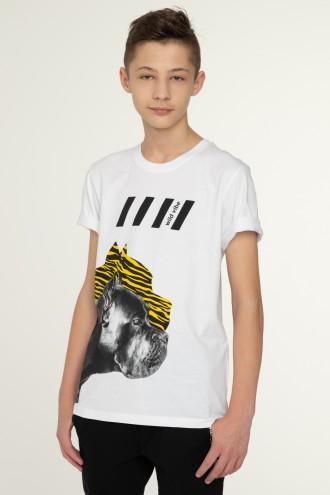 Biały T-shirt dla chłopaka WILD VIBE