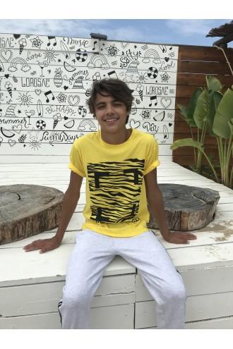 Żółty T-shirt dla chłopaka URBAN JUNGLE