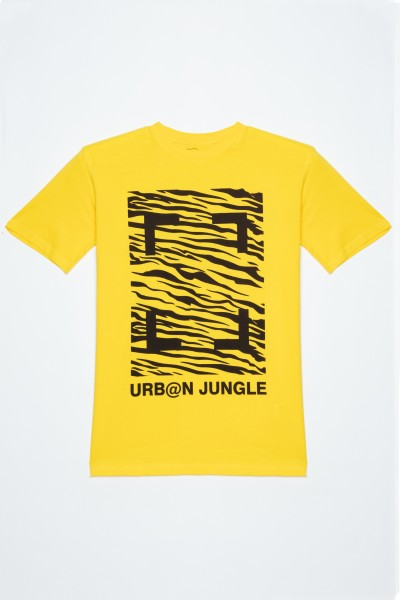 Żółty T-Shirt URBAN JUNGLE