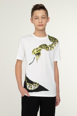 Biały T-shirt dla chłopaka SNAKE