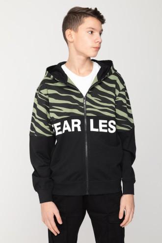 Rozpinana bluza z kapturem dla chłopaka FEARLESS