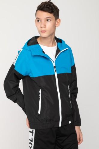 Niebiesko-czarna kurtka sportowa dla chłopaka