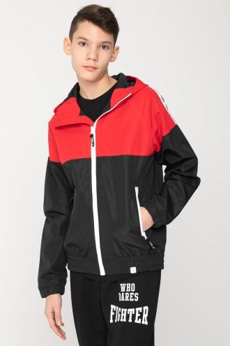 Czerwono-czarna kurtka sportowa dla chłopaka