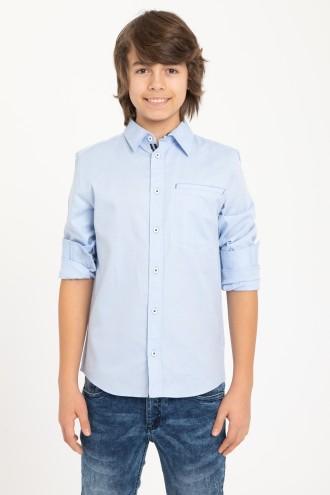 Błękitna koszula z długim rękawem dla chłopaka