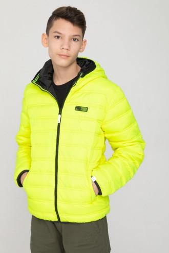 Dwustronna kurtka neonowa dla chłopaka