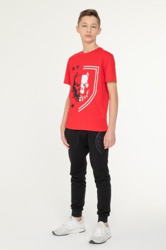 Czerwony T-shirt z nadrukiem dla chłopaka