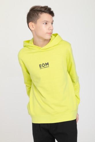 Zielona chłopięca bluza EOM