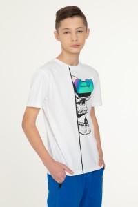 Biały T-shirt VIRTUAL EALITY