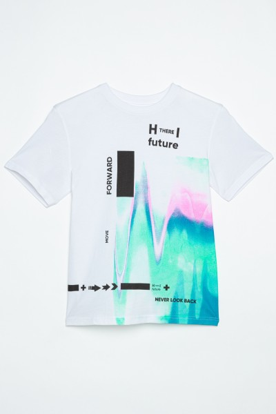 Biały T-shirt dla chłopaka FORWARD