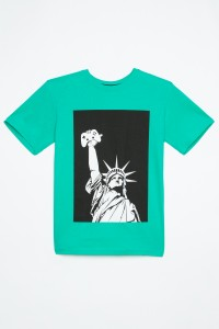 Niebieski T-shirt dla chłopaka STATUE OF GAMING