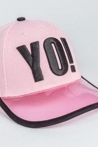 Różowa czapka z daszkiem dla dziewczyny YO!