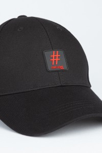 Czarna czapka z daszkiem HASHTAG