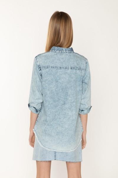 Koszula jeansowa z długim rękawem