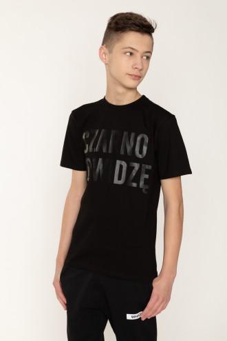 Czarny T-shirt dla chłopaka CZARNO TO WIDZĘ