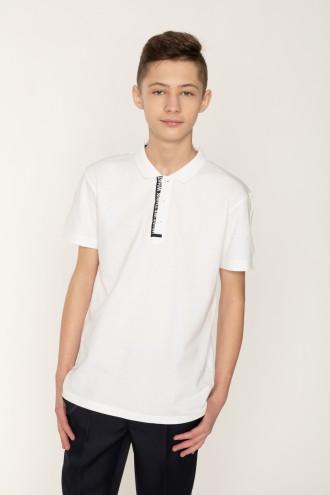 Biała koszulka polo RY dla chłopaka