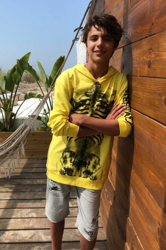 Żółta bluza dla chłopaka REBEL INSIDE