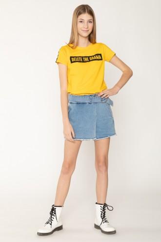 Jeansowa spódnica z szortami
