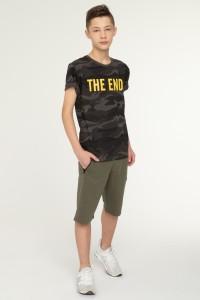Krótkie spodnie ciemnozielone dla chłopaka