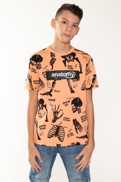 Pomarańczowy T-shirt dla chłopaka ANATOMY