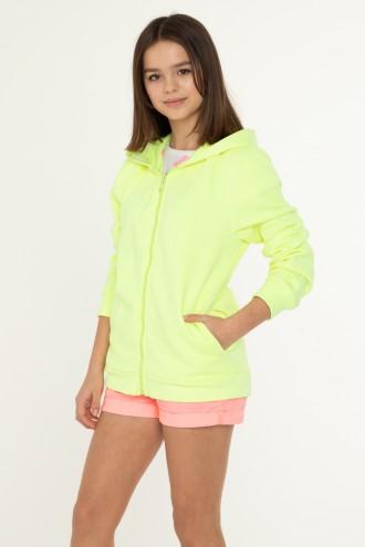 Neonowa bluza z kapturem dla dziewczyny