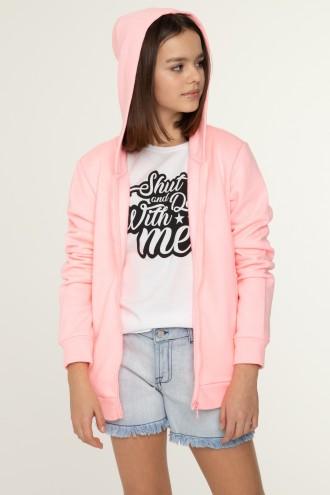 Różowa bluza z kapturem dla dziewczyny