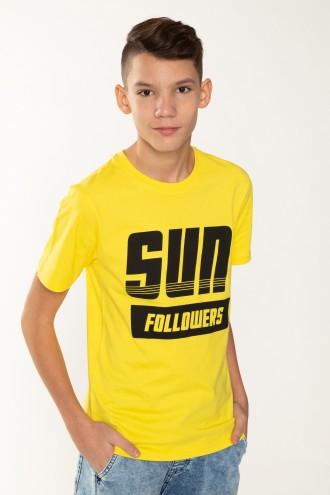 Żółty T-shirt dla chłopaka SUN FOLLOWERS