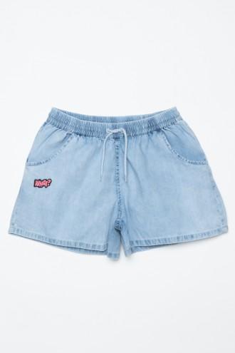 Jeansowe szorty z naszywką dla dziewczyny